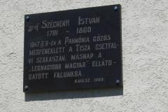 Emléktábla Csetfalván