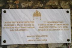 Emléktábla Munkács várában